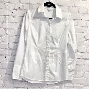 Cabi | White Button up Blouse | Size 4